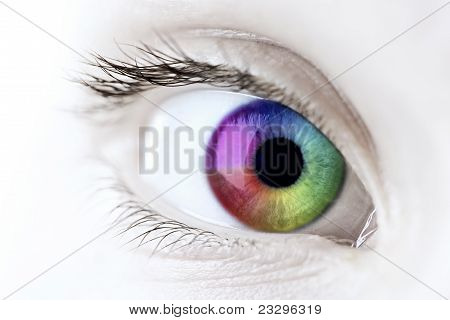 Rainbow Eye Closeup