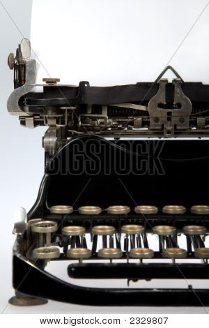 Antique Retro Typewriter Close-Up