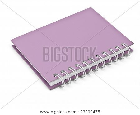 Stack Of Ring Binder Book Or Violet Notebook