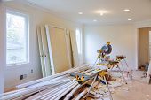 Interior Construction Of Housing Construction Building Industry New Home Construction Interior Drywa poster