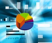 stock photo of pie-chart  - an illustration of accounts pie charts and bar graphs - JPG