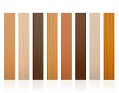 Wooden Slats. Collection Of Wood Boards, Different Colors, Glazes, Textures From Various Trees To Ch poster