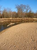 pic of winnebago  - Kishwaukee River winds through northern Illinois on a sunny autumn day - JPG