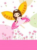 stock photo of tinkerbell  - cute flower fairy - JPG