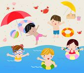 picture of summer beach  - summer holiday - JPG