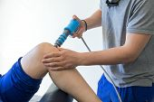 Physical Therapy Of The Knee And The Foot With Shock Wave poster