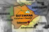 Постер, плакат: Botswana Officially The Republic Of Botswana black And White Selective Focus