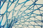 Building Construction Of Metal Steel Framework Outdoors poster