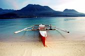foto of camiguin  - Banca boat on Camiguin Island Philippines near the sunken cemetery - JPG