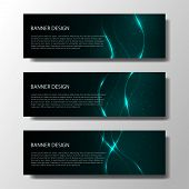 Abstract Vector Banners With Bright Geometric Background Annual Report Design Templates Future Poste poster