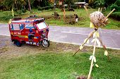 image of lanzones  - A Tricycle at Lanzones Festival Camiguin Philippines - JPG