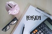 Positive  Pension Happiness Money Saving For Retirement Financial poster
