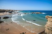 Picturesque Seascape With Abandoned Beach In Porto Covo In Portugal poster