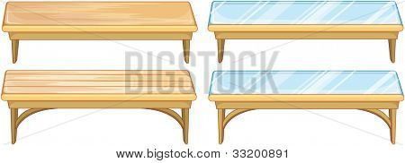 Illustration of a set of tables - EPS VECTOR format also available in my portfolio.