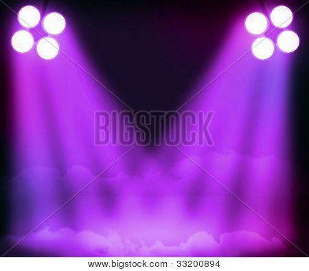 Violet Spotlight Background