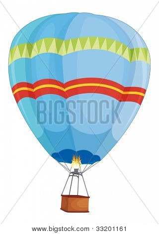 Illustration of a hot air balloon - EPS VECTOR format also available in my portfolio.