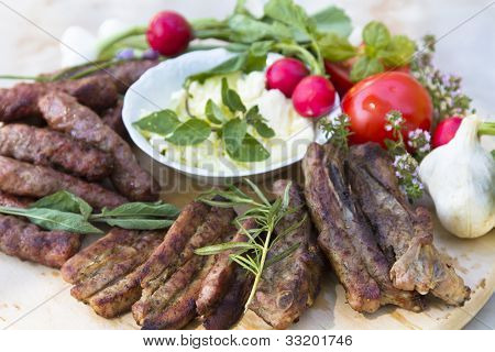 American Balkan BBQ with vegetable