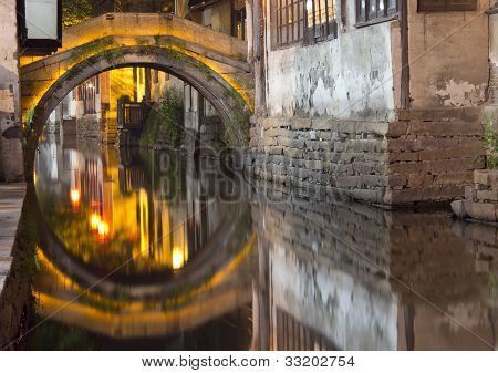 Canal in Zhouzhuang at Night