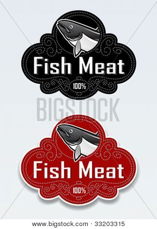 Fish Meat Seal / Sticker