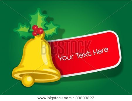Christmas Bell Message Label