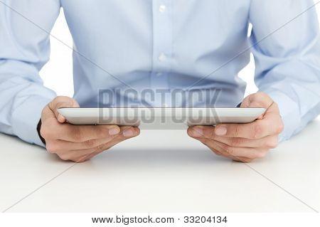 Reading At Digital Tablet