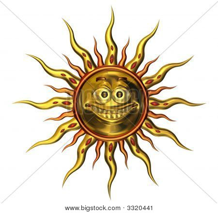 Metallic Emotisun Smile