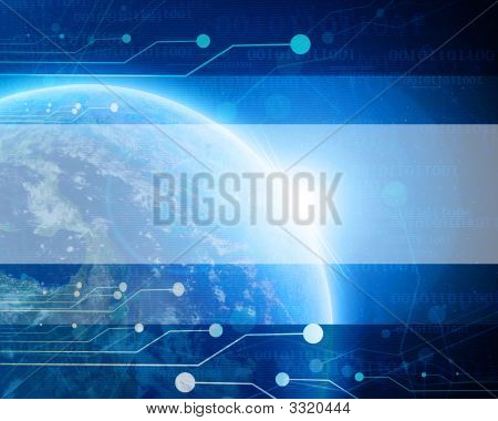 Technological Blue Planet Earth