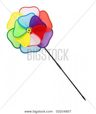 Weathercock in a shape of colorful flower - isolated on white background