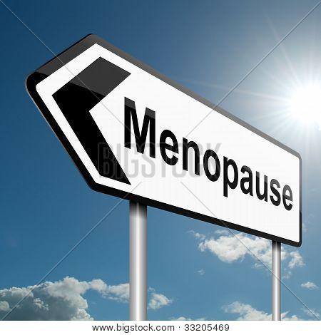 Concepto de la menopausia.