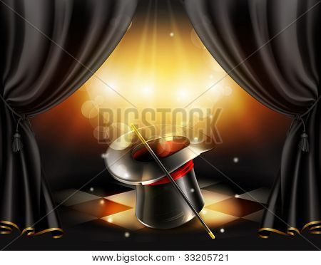 Magic tricks background, bitmap copy
