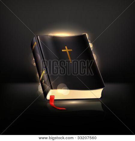 Bible on black, bitmap copy