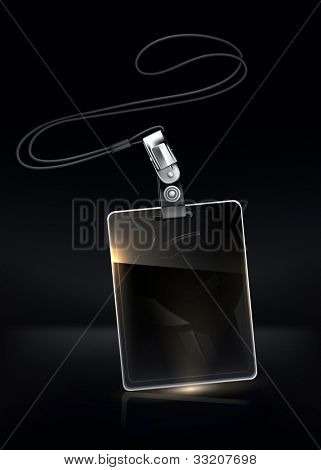 Name Tag Black Screen, bitmap copy