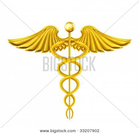 Golden Caduceus, bitmap copy