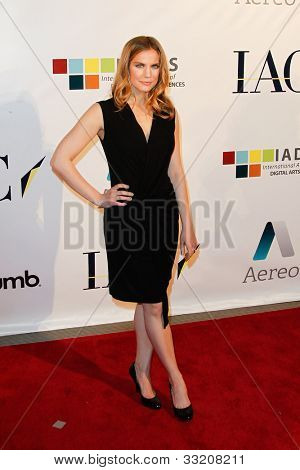 NEW YORK-MAY 17: Actress Anna Chlumsky attends the IAC And Aereo Official Internet Week New York HQ Closing Party at IAC HQ on May 17, 2012 in New York City.