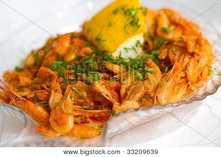 Shrimps With Parsley