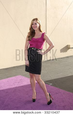 LOS ANGELES - MAY 20:  Sara Rue. arrives at the ABC / Disney International Upfronts at Walt Disney Studios Lot on May 20, 2012 in Burbank, CA