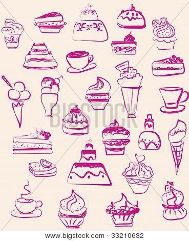 Conjunto de dulces de vector