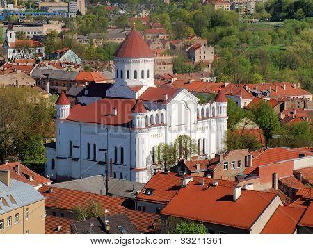 White Orthodox Church In The Vilnius City
