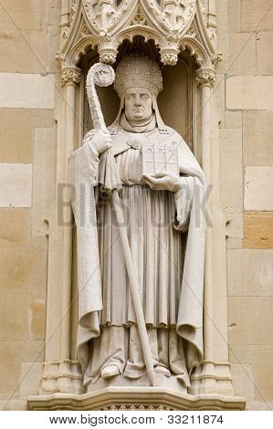Bishop William Waynflete statue, Eton