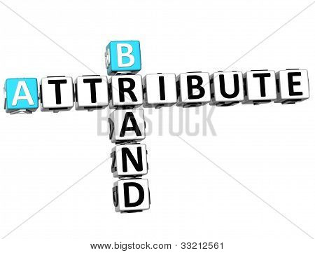 3D Brand Attribute Crossword