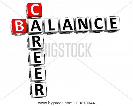3D Career Balance Crossword