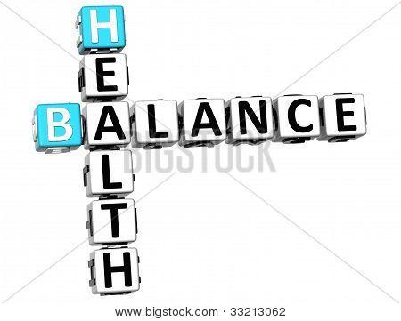 3D Health Balance Crossword