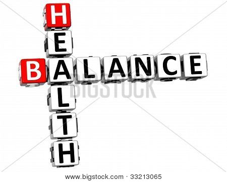 3D Health Balance Crossword
