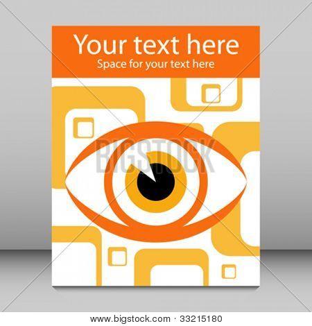 Striking eye leaflet design.