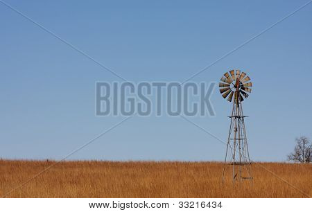Lonely Windmill on the Plains of Northern Oklahoma
