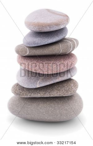 Pile Of Pebble Stones Over