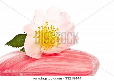 Pink Soap With Flower