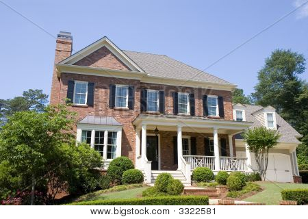 Brick Two Story With Porch