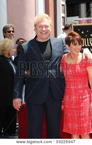 LOS ANGELES - MAY 22: Patricia Heaton, David Hunt at a ceremony honoring Patricia Heaton with a Star on The Hollywood Walk of Fame on May 22, 2012 in Los Angeles, California