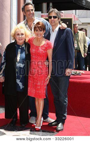 LOS ANGELES - MAY 22: Patricia Heaton, Doris Roberts, Brad Garrett, Ray Romano at a ceremony honoring Patricia Heaton with a Star on The Hollywood Walk of Fame on May 22, 2012 in Los Angeles, CA